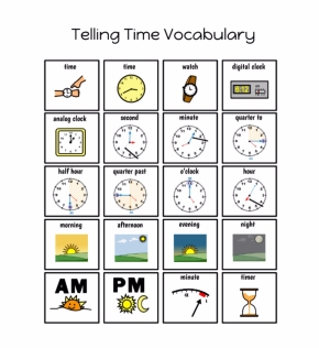 2nd Grade Modified Telling Time Unit (Picture SymbolSupports)