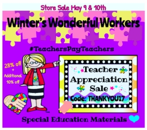 Store Sale – All Special Education Materials