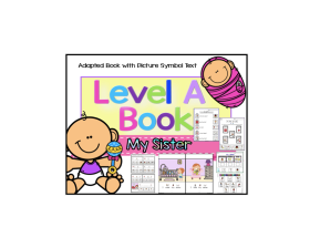 Autism Reading Level A Book Comprehension Unit (ASD /SPED)