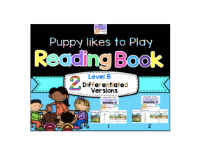Adapted Level B (Puppy Likes to Play) Book Unit & Comprehension(Autism)