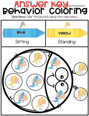 Behavior Coloring By Code Simplified –Autism