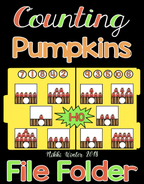 Counting Pumpkins 1-10 File Folder (Autism)