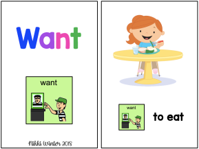 "Core Vocabulary ""Want"" Book (Autism / SPED / AAC)"