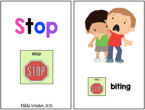 "Core Vocabulary ""STOP"" Book (Autism / SPED / AAC)"