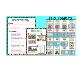 Differentiated Farm Unit – 3 Books & 16 File Folders (Autism / SPED)
